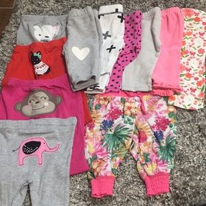 Baby girl leggings 0-3months lot of 11 pair